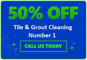 50% off on tile and grout cleaning services